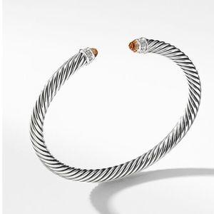 David Yurman Diamond Citrine Bracelet